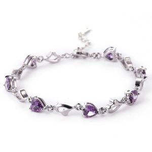 Jewelry - CZ Purple Amethyst Tennis Bracelet | Coming_Soon